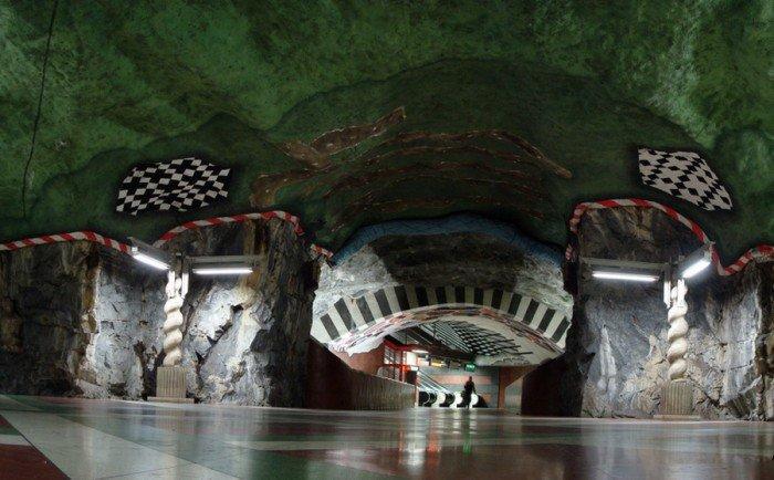 Красивые станции метро в Стокгольме, фото 10