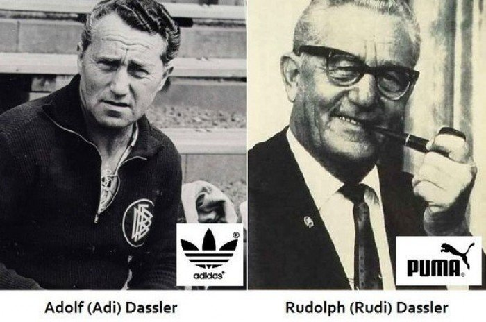Адольф Дасслер и Руди Дасслер/ История компании ADIDAS и PUMA