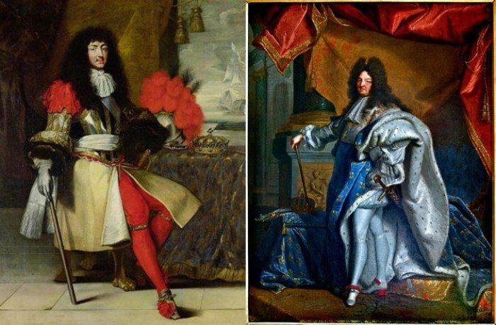 Портреты Людовика XIV 1670 и 170 годов.