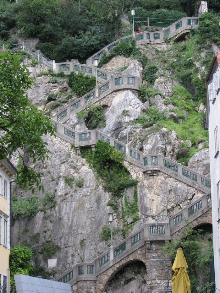 Известные лестницы мира. Необычная лестница в Австрии
