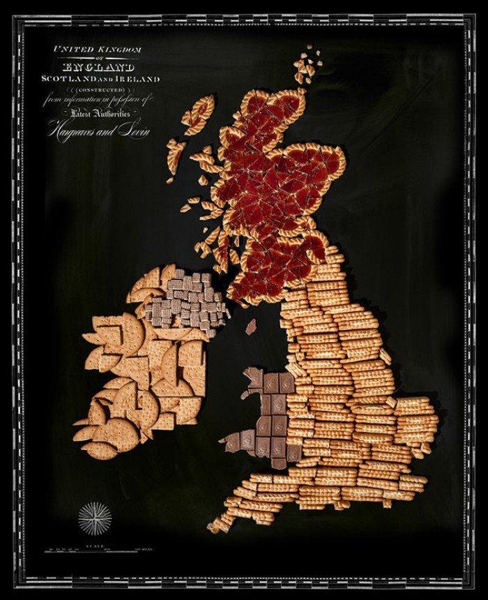 Съедобная карта мира — фуд дизайн, фото 9