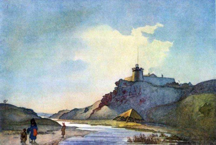 Акварелі Тараса Шевченка. Форт Кара-Бутак