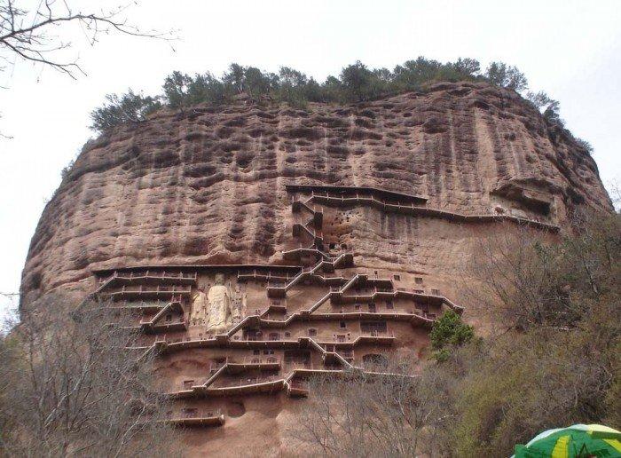 Пещерный монастырь Майцзишань в Китае. «Пшеничная гора», фото 2