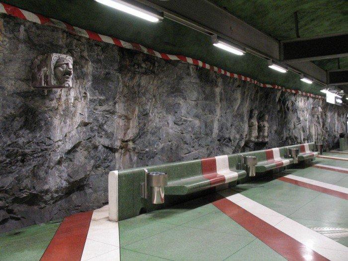 Красивые станции метро в Стокгольме, фото 16