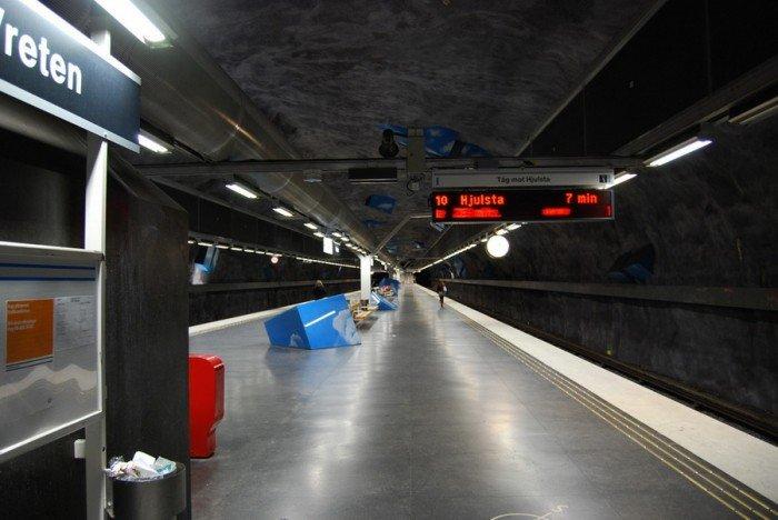Красивые станции метро в Стокгольме, фото 6