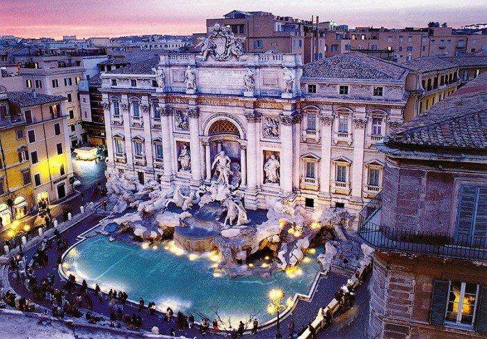 Місця в світі, де загадують бажання - Фонтан Треві, Італія