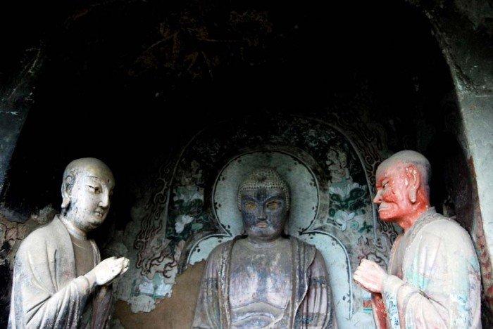 Пещерный монастырь Майцзишань в Китае. «Пшеничная гора», фото 6