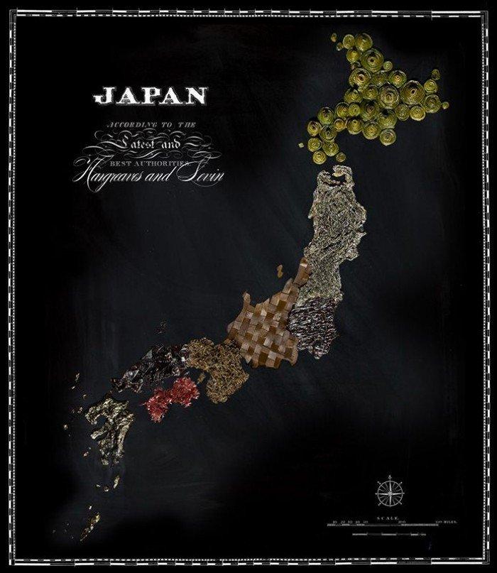 Съедобная карта мира — фуд дизайн, фото 8