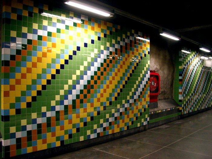Красивые станции метро в Стокгольме, фото 31