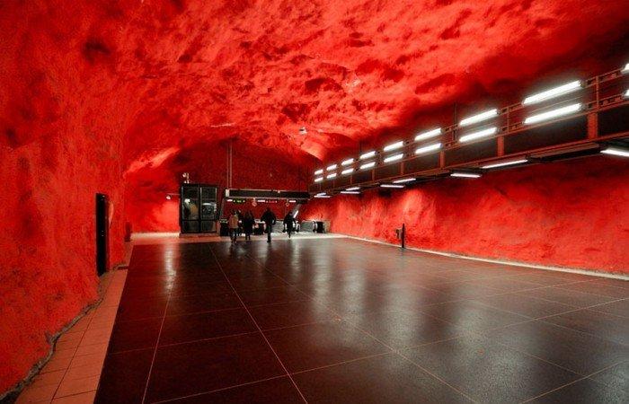 Красивые станции метро в Стокгольме, фото 7