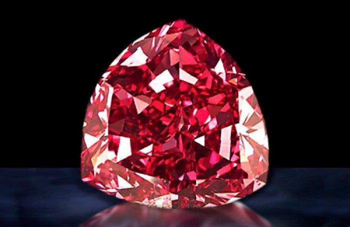 Самые редкие драгоценные камни в мире, фото - пурпурный алмаз