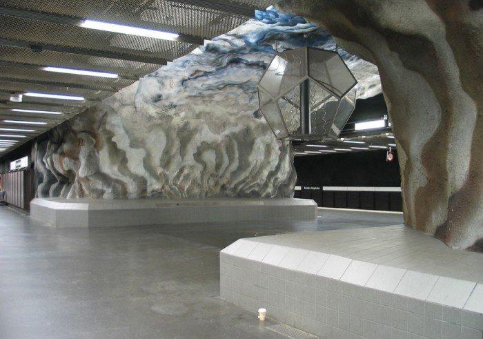 Красивые станции метро в Стокгольме, фото 22
