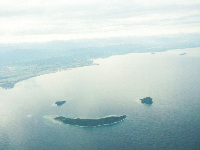 Необычные острова, фото - остров-смайл
