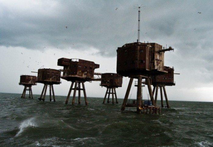 Заброшенные и таинственные места Земли, фото - Форты Манселла у берегов Англии