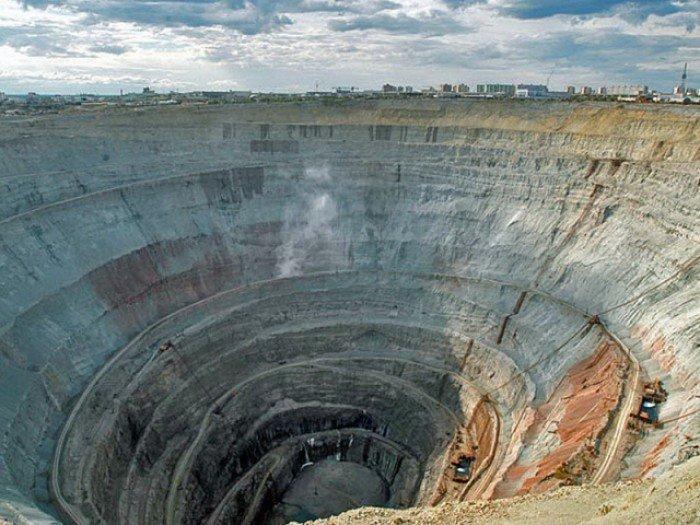 Алмазный карьер, Мирный (Якутия) - фото 2