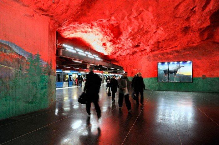 Красивые станции метро в Стокгольме, фото 8