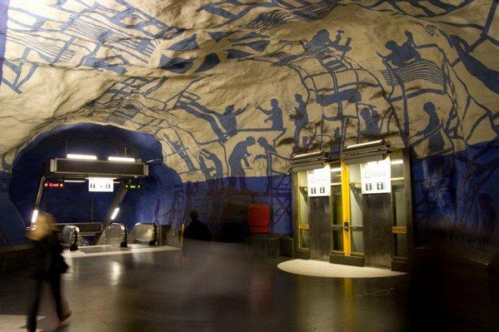 Красивые станции метро в Стокгольме, фото 4