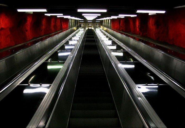 Красивые станции метро в Стокгольме, фото 17