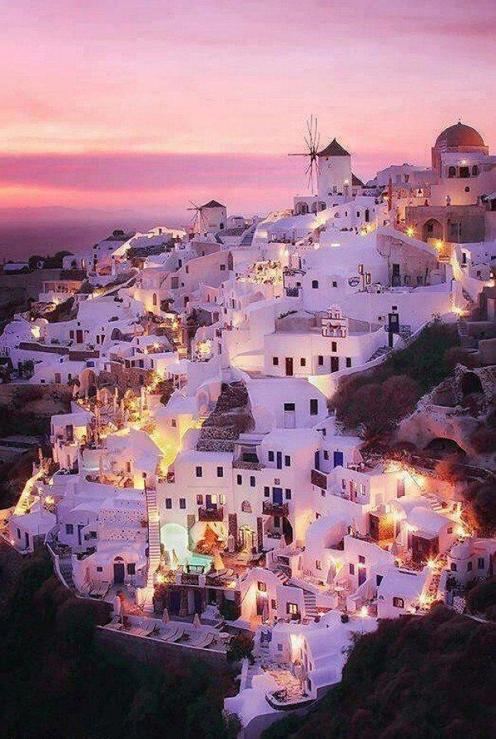 Самые сказочные места на Земле - Санторини, Греция