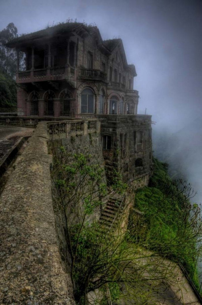 Заброшенные и таинственные места Земли, фото - Эль-Отель-дель-Сальто, Колумбия