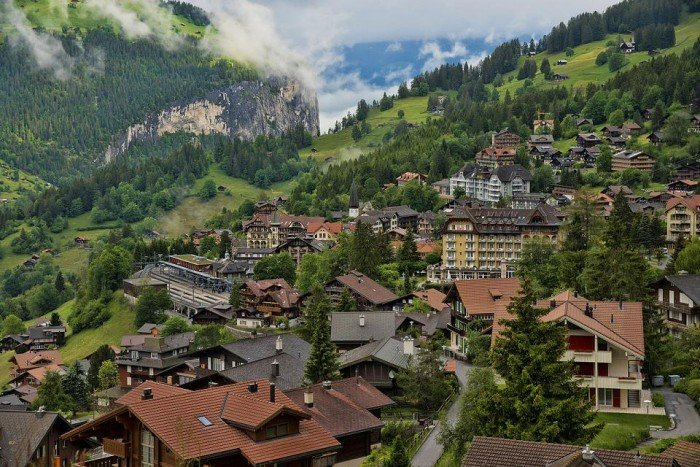 Самые красивые деревни Европы, фото - село Венген, Швейцария