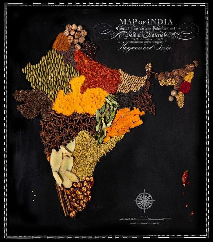 Съедобная карта мира — фуд дизайн, фото 2