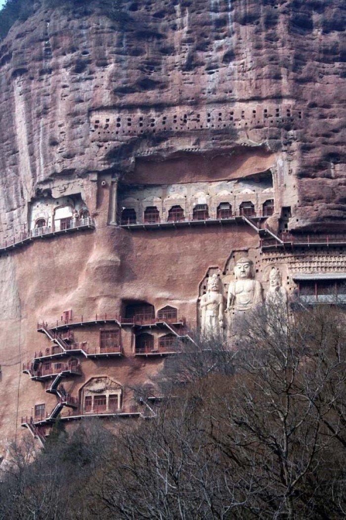 Пещерный монастырь Майцзишань в Китае. «Пшеничная гора», фото 9