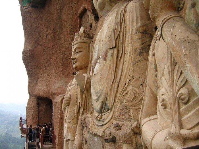 Пещерный монастырь Майцзишань в Китае. «Пшеничная гора», фото 10
