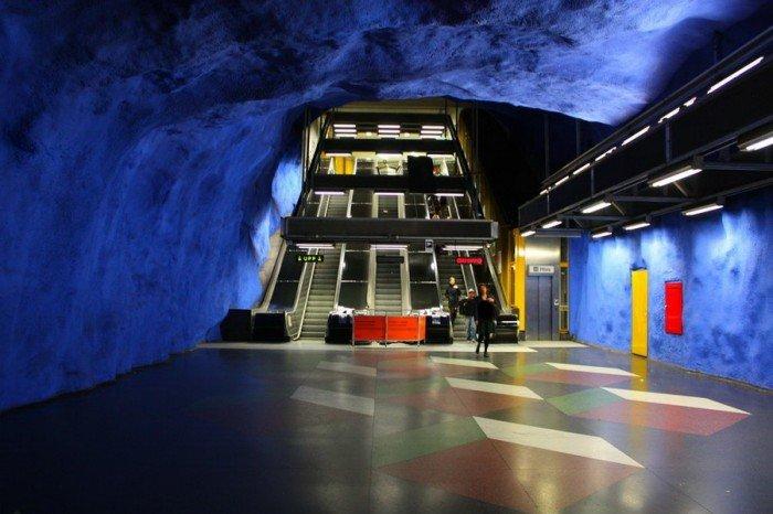 Красивые станции метро в Стокгольме, фото 2