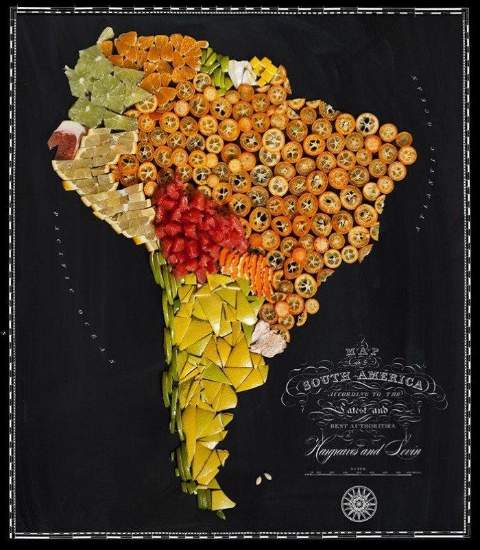 Їстівна карта світу — фуд дизайн, фото 3