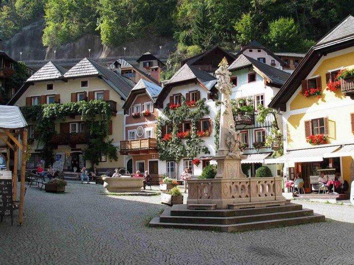 Самые красивые деревни Европы, фото - село Гальштат, Австрия