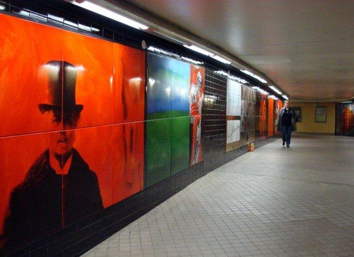 Красивые станции метро в Стокгольме, фото 23