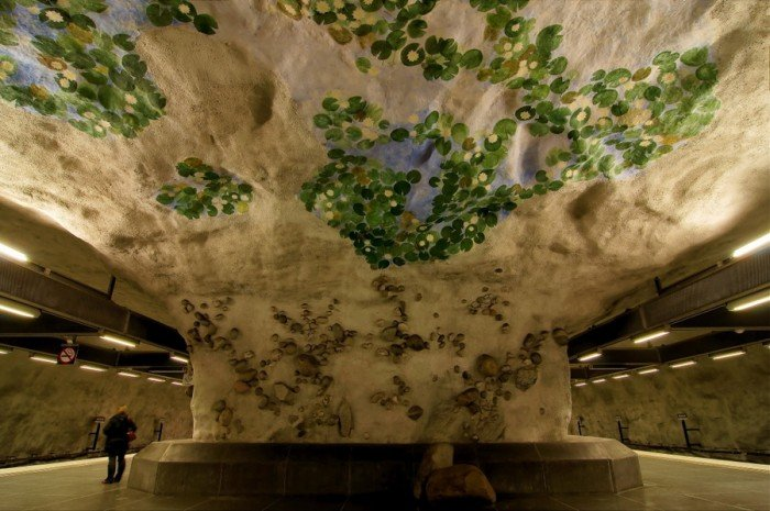Красивые станции метро в Стокгольме, фото 24