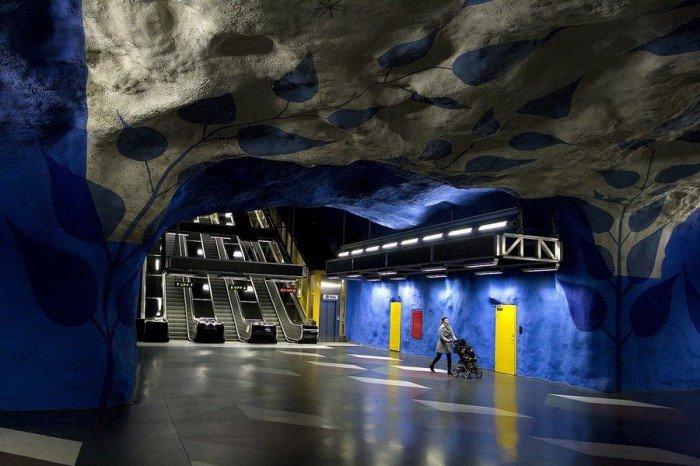 Красивые станции метро в Стокгольме, фото 1