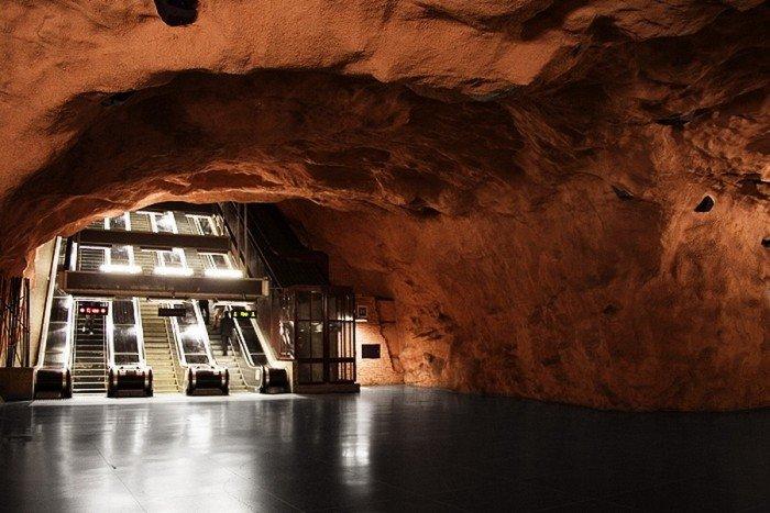 Красивые станции метро в Стокгольме, фото 18