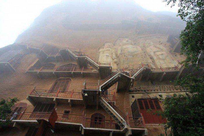 Пещерный монастырь Майцзишань в Китае. «Пшеничная гора», фото 4
