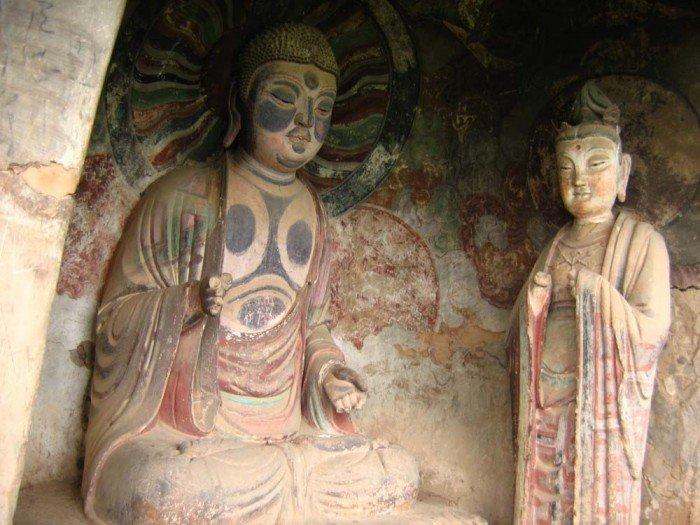 Пещерный монастырь Майцзишань в Китае. «Пшеничная гора», фото 3