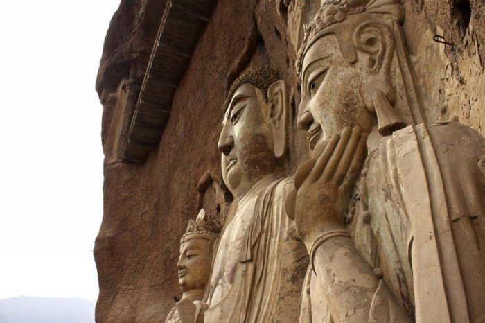 Пещерный монастырь Майцзишань в Китае. «Пшеничная гора», фото 1