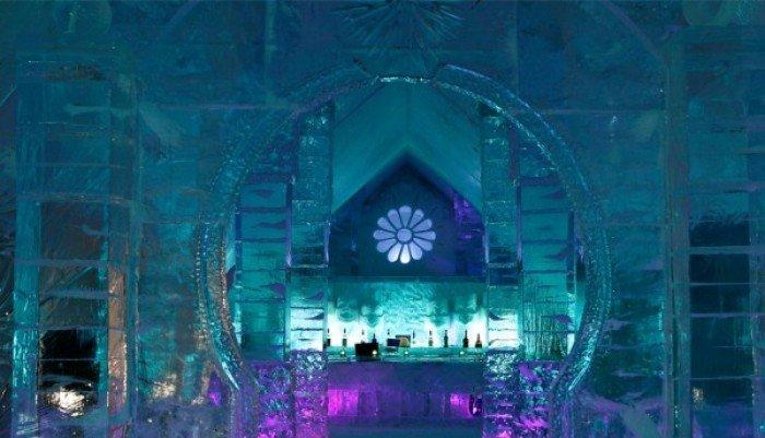 Отель изо льда в Канаде - фото 4