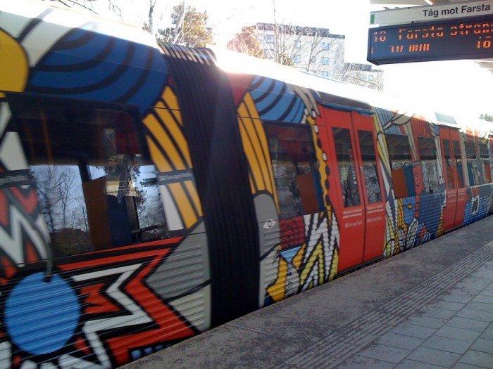 Красивые станции метро в Стокгольме, фото 33