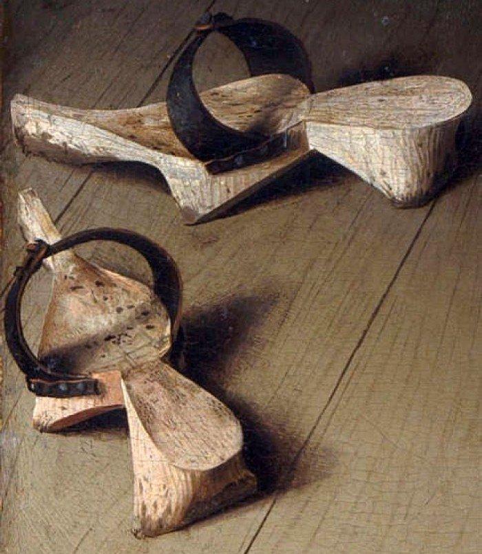 Сандалии из картины Яна ван Эйка «Портрет четы Арнольфини»