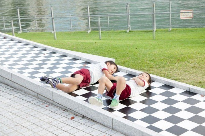 Самые красивые парки мира, фото - Шахматный парк в Японии