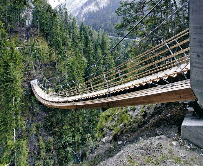 Известные лестницы мира. Необычная лестница в Швейцарии