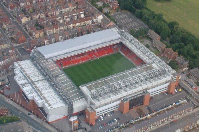 Найбільші стадони Європи для футболу - Ліверпуль