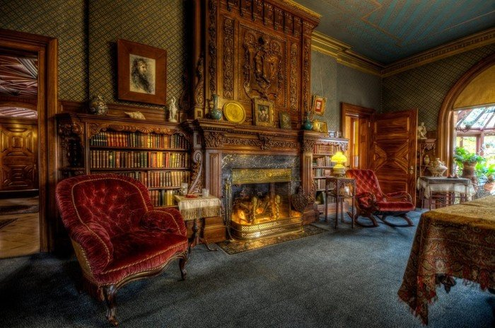 Бібліотека у домі Марка Твена
