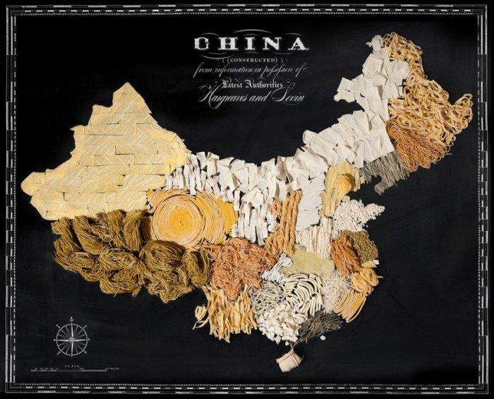 Съедобная карта мира — фуд дизайн, фото 10