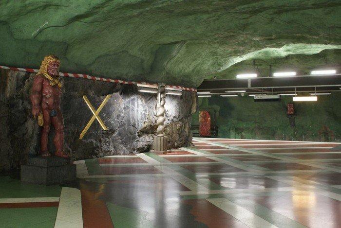 Красивые станции метро в Стокгольме, фото 13