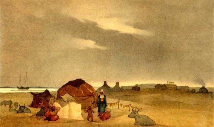 Тарас Шевченко – художник. Казахская стоянка на Кос-Арале