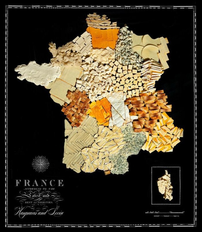 Съедобная карта мира — фуд дизайн, фото 7