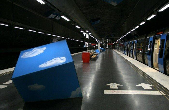 Красивые станции метро в Стокгольме, фото 5